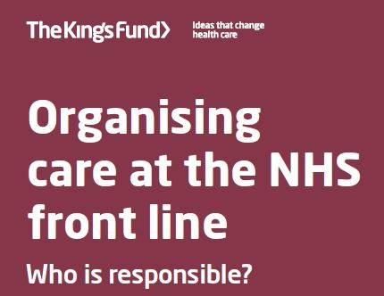 Organising care at the frontline