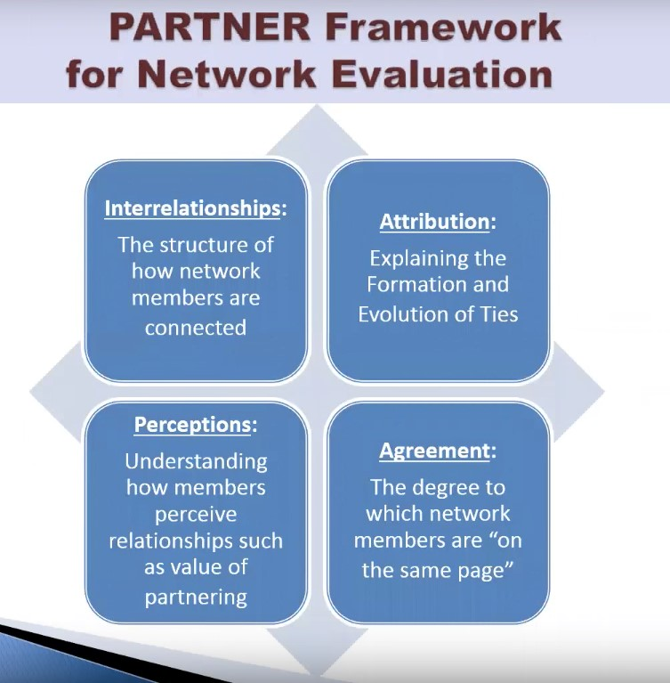 PARTNER framework for evaluation